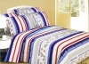 100% cotton peach printed textile bedding sets
