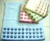 100% cotton plain dyed jacquard bath towel