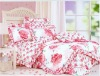 100% cotton print bed sheet sets
