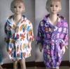 100% cotton print velour reactive bathrobe