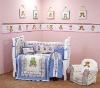 100% cotton printed baby crib bedding set