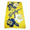 100% cotton printed beach towel