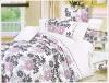 100% cotton printed bedding set home textile