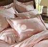 100%cotton printed satin bed linen