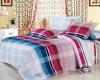 100% cotton printing bedding set/bed linen set with 4 pcs home textile