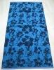 100% cotton promotional flower Jacquard beach towel