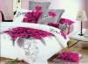 100%cotton queen king size bedding set, bed sheet duvet cover set
