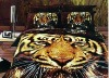 100% cotton reactive animal print bedding set
