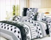 100%cotton reactive printed brushed bedding sets