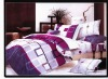 100% cotton reactive printed queen/king size quilt cover set