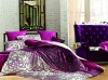 100% cotton reactive printing bed sheet with 4 pcs