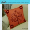 100%cotton red eco-friendly printed cushion