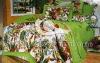 100%cotton sateen printed bedding set