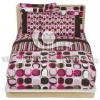100%cotton sateen printed bedding set