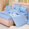 100%cotton satin plain dyed bedding set