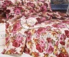 100%cotton satin printed bedspread sets