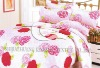 100% cotton satin quilted duvet cover set