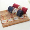 100% cotton solid children towel with jacquard
