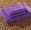 100% cotton solid towel set