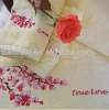 100% cotton solide embroidery bath towel