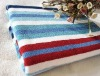 100%cotton stripped thickened bath towel