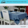 100%cotton thickening blue table linen