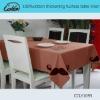 100%cotton thickening fuchsia table linen
