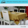 100%cotton thickening yellow table linen