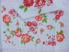100% cotton towels with red flowers manufacture