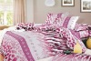100% cotton twill printed bed sheet set
