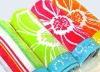 100% cotton velour jacquard beach towel