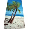 100% cotton velour printed beach towel