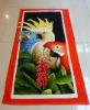 100%cotton velour printed parrot beach towel