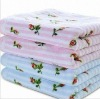 100% cotton velvet printed towel
