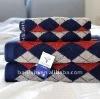 100%cotton yarn dyde jacquard rhombus design bath towel