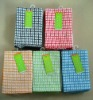 100% cotton yarn dyed Checks weaving kitchen washing cloth tea towel for kitchen