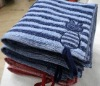 100% cotton yarn dyed baby face towel
