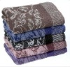100% cotton yarn dyed bath towel