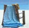 100% cotton yarn dyed beach towel