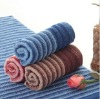 100% cotton yarn dyed hand towel with embroidery