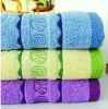 100% cotton yarn dyed jacquard face towel