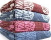 100% cotton yarn dyed jacquard face towels