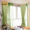 100% latest polyester printed window curtain