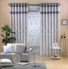 100% linen curtain with 8 rings