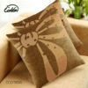100%linen printed darkyellow occidentally cushion