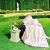 100% natural silk cut pile blanket,functional silk blanket