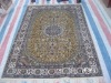 100% persian silk carpet 4 x 6