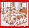 100% polyester 4 pcs bedclothes/ noble bedding set/ flowers print bedlinen