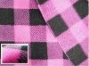 100% polyester Printed plaid polar fleece