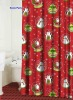 100% polyester X'mas designs printed shower curtains